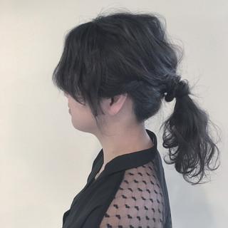 ヘアアレンジ ショート ウェーブ セミロング ヘアスタイルや髪型の写真・画像