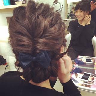 ヘアアレンジ フェミニン ロング ゆるふわ ヘアスタイルや髪型の写真・画像