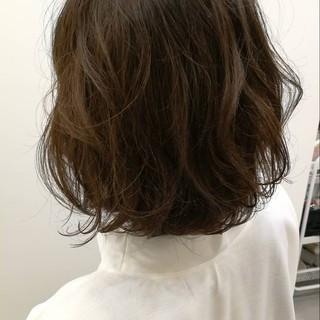 パーマ 大人かわいい ボブ ウェーブ ヘアスタイルや髪型の写真・画像
