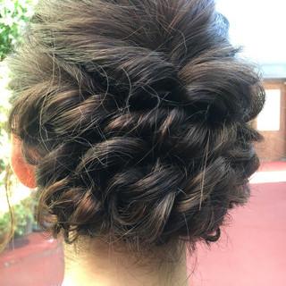 花火大会 夏 デート ミディアム ヘアスタイルや髪型の写真・画像