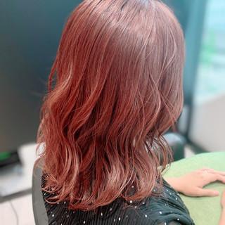 フェミニン 似合わせカット セミロング ツヤ髪 ヘアスタイルや髪型の写真・画像