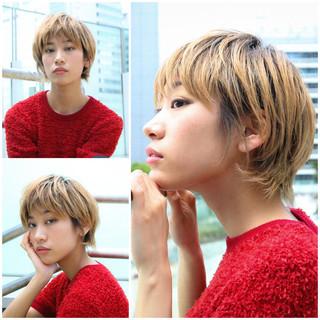 モード ハンサムショート PEEK-A-BOO 阿藤俊也 ヘアスタイルや髪型の写真・画像