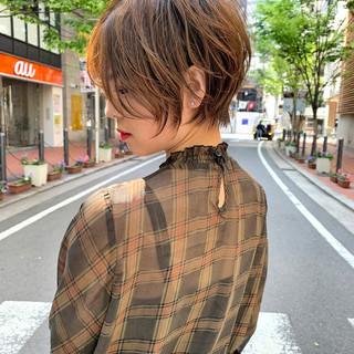ショートヘア イルミナカラー ショートボブ ナチュラル ヘアスタイルや髪型の写真・画像 ヘアスタイルや髪型の写真・画像