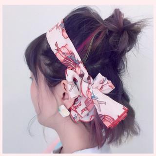 お団子 簡単ヘアアレンジ ヘアアクセ インナーカラー ヘアスタイルや髪型の写真・画像