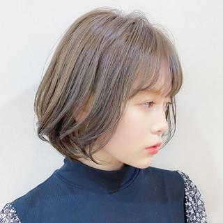 アンニュイほつれヘア ショートボブ ナチュラル ボブ ヘアスタイルや髪型の写真・画像