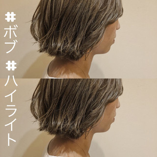 波ウェーブ 抜け感 前髪あり グレージュ ヘアスタイルや髪型の写真・画像