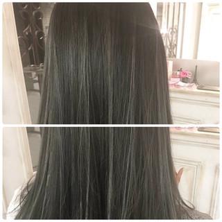 暗髪 グレージュ ストリート イルミナカラー ヘアスタイルや髪型の写真・画像