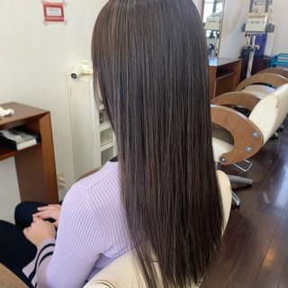 キャラデコミュゼリア ブリーチカラー ロング ナチュラル ヘアスタイルや髪型の写真・画像