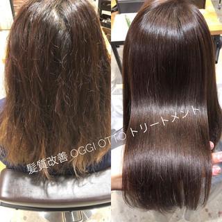 髪質改善トリートメント トリートメント ロング デート ヘアスタイルや髪型の写真・画像