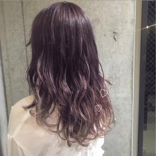 透明感 ピンク ガーリー ナチュラル ヘアスタイルや髪型の写真・画像