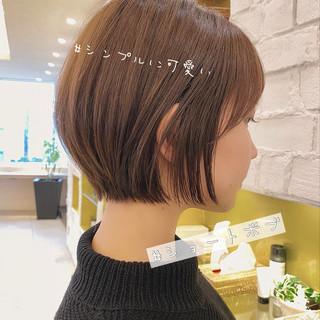 ショート 丸みショート ナチュラル ショートボブ ヘアスタイルや髪型の写真・画像