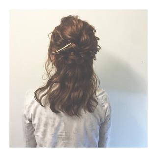 編み込み 大人かわいい ヘアアレンジ ショート ヘアスタイルや髪型の写真・画像