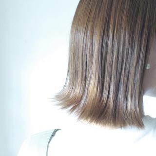 ロブ ミディアム ナチュラル ボブ ヘアスタイルや髪型の写真・画像