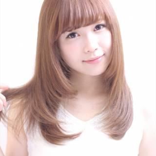セミロング 艶髪 愛され モテ髪 ヘアスタイルや髪型の写真・画像