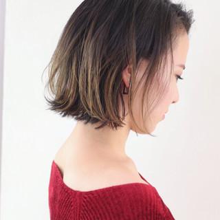 ハイライト ストリート グラデーションカラー 外ハネ ヘアスタイルや髪型の写真・画像