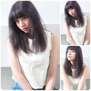 ダブルカラー ブルー パープル 暗髪 ヘアスタイルや髪型の写真・画像 ヘアスタイルや髪型の写真・画像