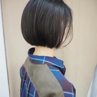 デート 黒髪 ショートボブ ミニボブ ヘアスタイルや髪型の写真・画像