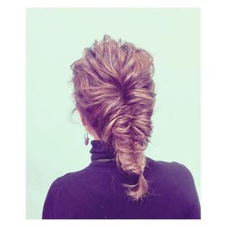 外国人風 セミロング グラデーションカラー ショート ヘアスタイルや髪型の写真・画像