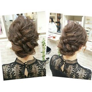 結婚式 ヘアアレンジ セミロング デート ヘアスタイルや髪型の写真・画像 ヘアスタイルや髪型の写真・画像