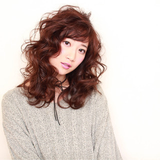 ニュアンス フェミニン 大人かわいい セミロング ヘアスタイルや髪型の写真・画像