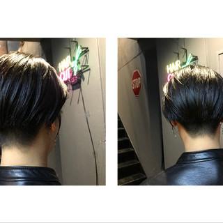 ナチュラル ハンサムショート 刈り上げ女子 ショートヘア ヘアスタイルや髪型の写真・画像