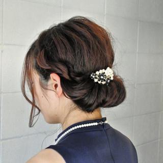 結婚式 上品 ギブソンタック ヘアアレンジ ヘアスタイルや髪型の写真・画像 ヘアスタイルや髪型の写真・画像