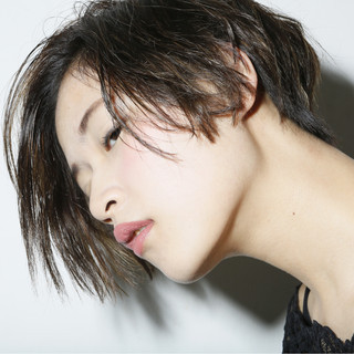 ゆるふわ グラデーションカラー ショート パーマ ヘアスタイルや髪型の写真・画像