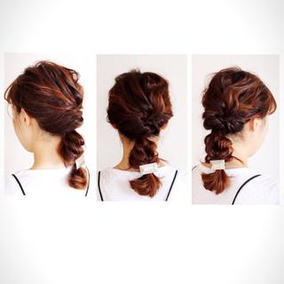 セミロング グラデーションカラー くせ毛風 ショート ヘアスタイルや髪型の写真・画像