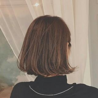 冬 秋 ボブ アッシュ ヘアスタイルや髪型の写真・画像