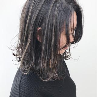 コンサバ ハイライト ミディアム 大人かわいい ヘアスタイルや髪型の写真・画像