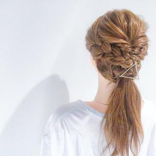 ヘアアレンジ デート アウトドア ロング ヘアスタイルや髪型の写真・画像