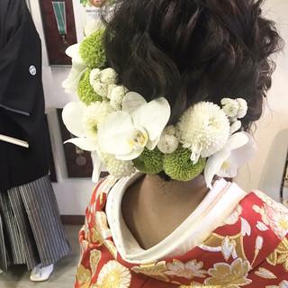成人式 ゆるふわ フェミニン ボブ ヘアスタイルや髪型の写真・画像