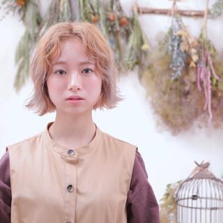 外国人風フェミニン ボブ デート 大人カジュアル ヘアスタイルや髪型の写真・画像
