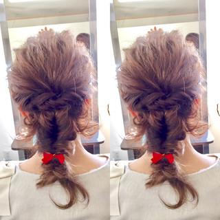 簡単ヘアアレンジ ヘアアレンジ 編み込み 外国人風 ヘアスタイルや髪型の写真・画像