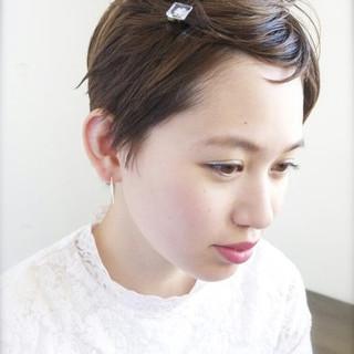 ヘアアレンジ ショート ナチュラル 簡単ヘアアレンジ ヘアスタイルや髪型の写真・画像