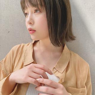 デジタルパーマ 鎖骨ミディアム ヘアアレンジ 透明感カラー ヘアスタイルや髪型の写真・画像