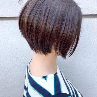 ボブ ミニボブ ナチュラル 大人かわいい ヘアスタイルや髪型の写真・画像 ヘアスタイルや髪型の写真・画像