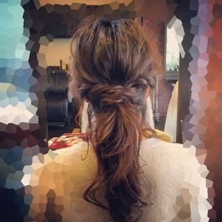 ヘアアレンジ フェミニン ポニーテール ロング ヘアスタイルや髪型の写真・画像