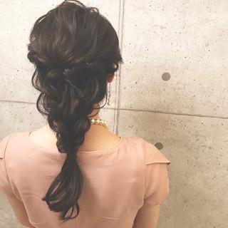 ハーフアップ ナチュラル ヘアアレンジ デート ヘアスタイルや髪型の写真・画像