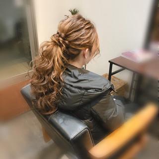 ポニーテールアレンジ ブライダル ロング ヘアセット ヘアスタイルや髪型の写真・画像