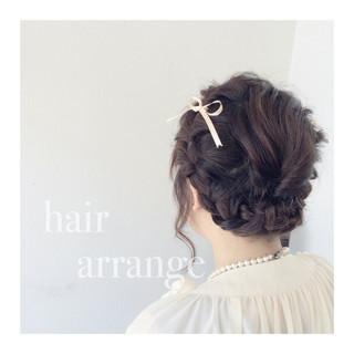 ヘアアレンジ フェミニン ショート 結婚式 ヘアスタイルや髪型の写真・画像