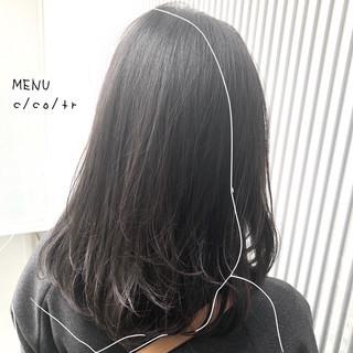 ストレート グレージュ ナチュラル 前髪 ヘアスタイルや髪型の写真・画像