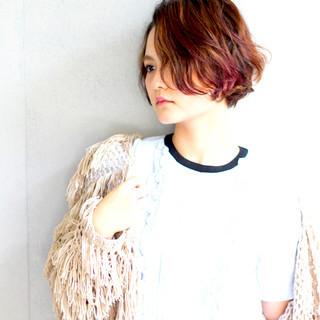 春 モード ショート 大人かわいい ヘアスタイルや髪型の写真・画像 ヘアスタイルや髪型の写真・画像