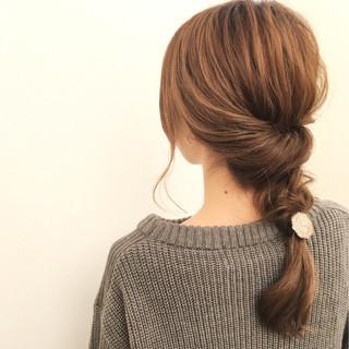 大人女子 ロング 小顔 簡単ヘアアレンジ ヘアスタイルや髪型の写真・画像