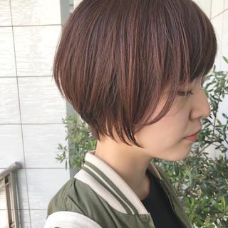 色気 ナチュラル ショート 小顔 ヘアスタイルや髪型の写真・画像