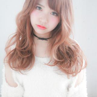 ピンク 外国人風カラー 大人かわいい 透明感 ヘアスタイルや髪型の写真・画像