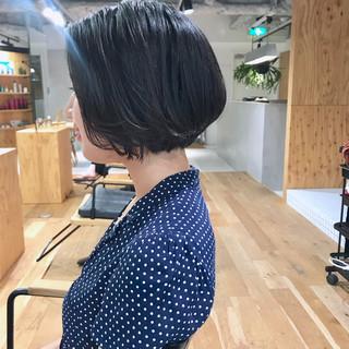 ショートヘア ボブ ナチュラル まとまるボブ ヘアスタイルや髪型の写真・画像