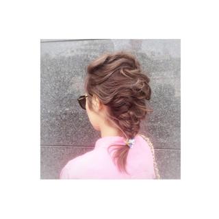 簡単ヘアアレンジ ショート ゆるふわ 外国人風 ヘアスタイルや髪型の写真・画像