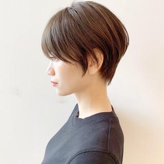モード デート ショート オフィス ヘアスタイルや髪型の写真・画像