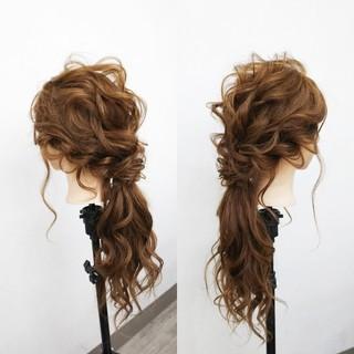 エレガント ローポニーテール ヘアアレンジ 上品 ヘアスタイルや髪型の写真・画像